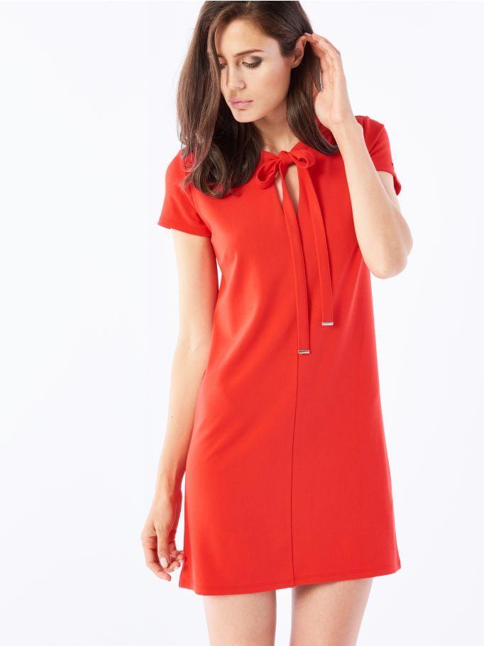 Платье с завязкой у горловины, MOHITO