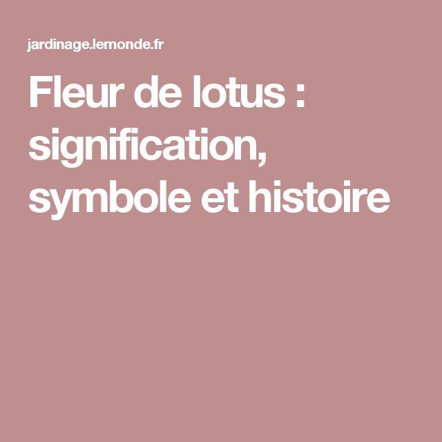 Les 25 meilleures id es de la cat gorie lotus signification sur pinterest sens unalome fleur - Signification tatouage fleur de lotus ...