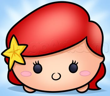 how to draw tsum tsum ariel