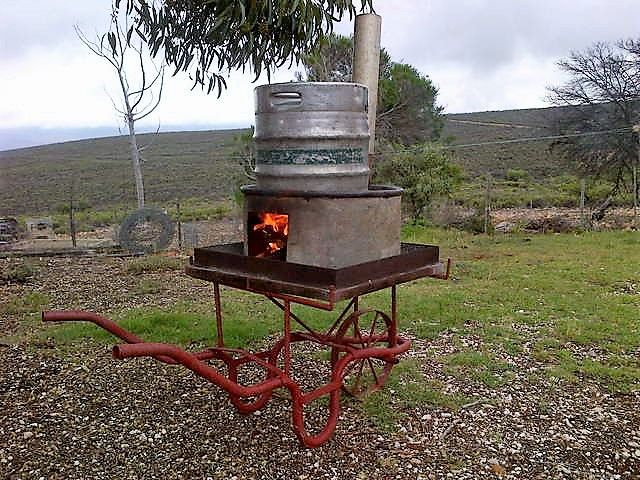 Home made Hi-tech manual driven Braai Smoker - The only one in the world!