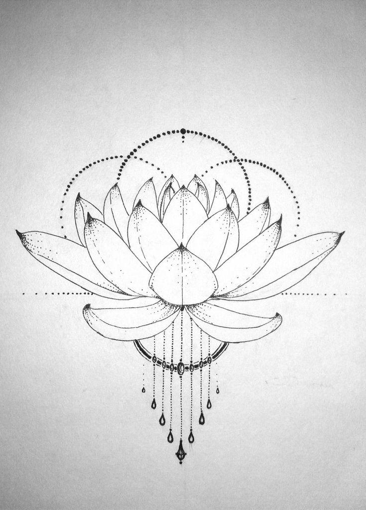 лотос цветок рисунок тату пермячки участвуют