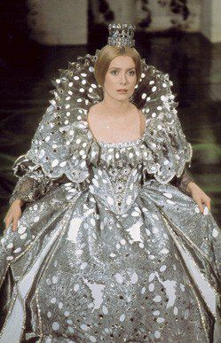 Peau d'ane (1970) Catherine Deneuve in title role & director Jaques Demy. Costume design: Gitt Magrini