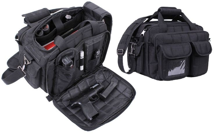 "Black 16"" Tactical 'Specialist' Shooting Range & Go 9-Pocket Shoulder Bag"