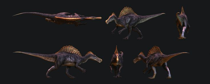 Spinosaurus walk cycle by ~maccollo on deviantART (visit link for animation)