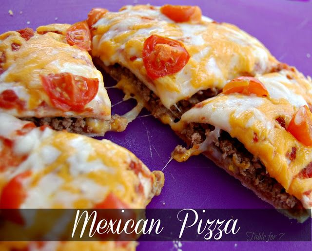 Mexican Pizza – VERY GOOD!  John doesnt like salsa so I made his without and he