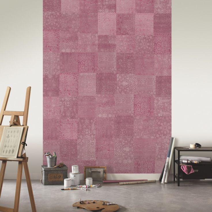 In delicious shades of pink, this wallpaper mural cleverly resembles a patchwork floor rug. From the Trendy Panels collection, Patchwork TDP63715050. This is a Guthrie Bowron exclusive range in NZ.