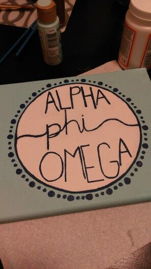 Alpha Phi Omega canvas craft