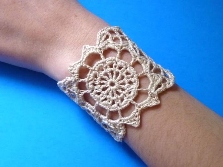 76 best pulseras y pendientes en ganchillo images on Pinterest ...