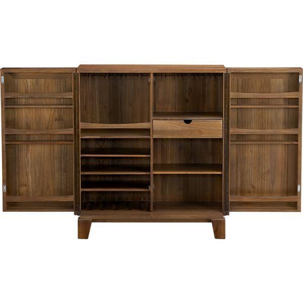 marin bar cabinet in bar cabinets u0026 bar carts crate and barrel