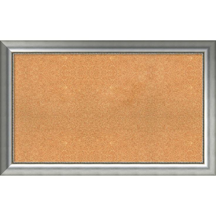 framed cork board choose your custom size vegas curved silver wood 49 x