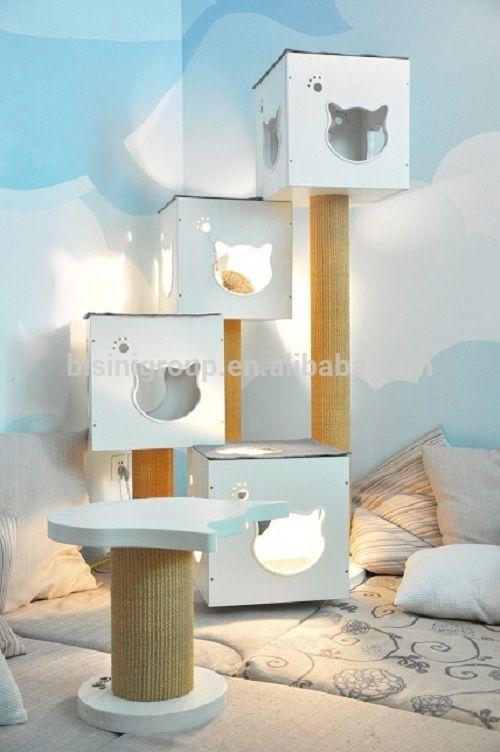 Antique design house cat madera para mascotas muebles - Muebles para mascotas ...