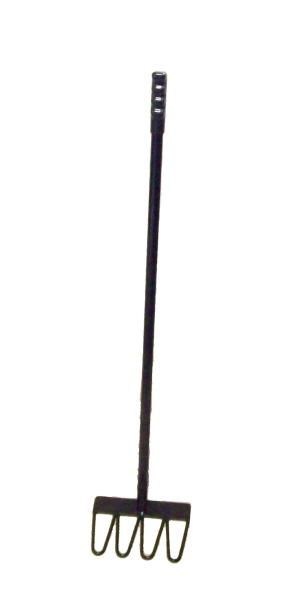 """Manure Rake / Poo Picker - a heavy duty version of the cheaply made and widely available poo pickers, we make ours from solid 6mm round bar, with a 3mm thick scraper bar at the top, fixed onto a 3/4"""" dia tubular handle with a moulded pvc grip.It is finished in 2 coats of gloss black.measures approx 90cm long.NOTE - This is for the poo picker only - Does NOT come with a bucket / scoop of any type.Heavy Duty means made from thicker materials which also means it will weigh a..."""
