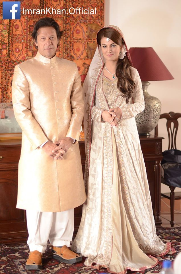 Shadi Mubarak - Imran Khan has married Reham Khan in a simple ceremony in Bani Gala today. The Nikah was conducted by Mufti Saeed at Imran Khan's residence. The marriage conducted today will be followed up tomorrow by distributing food in the poor and the less privileged of our society. May this marriage bring blessings in the personal life of Imran Khan. Ameen. Congratulations!!