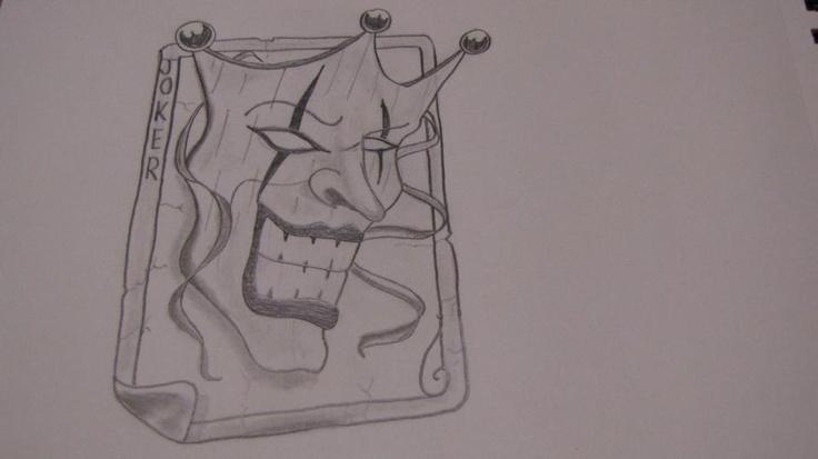 Joker card drawings