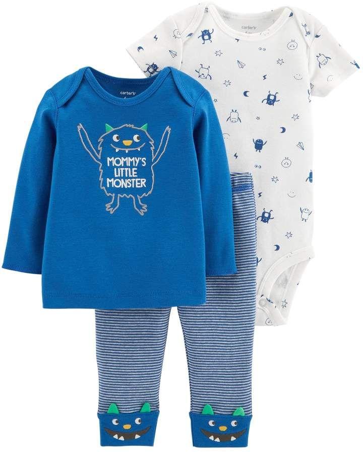b7df49075fa4 Baby Boy 3-piece. Monster Bodysuit