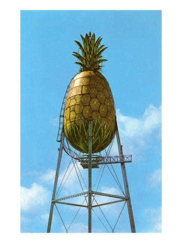 the dole pineapple water tower. the stuff of my childhood vacations. #hawaii #dole #pineapples