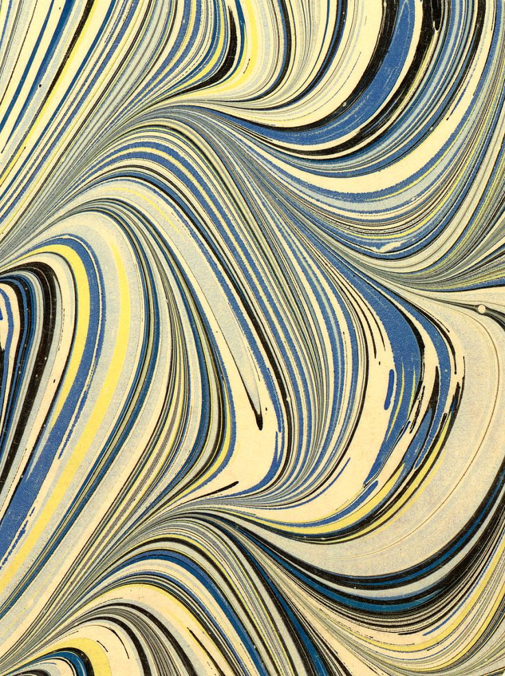 Modern 20th C Marbled Paper Serpentine Pattern Artist Guyot
