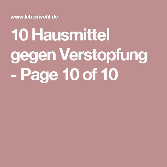 10 Hausmittel gegen Verstopfung - Page 10 of 10