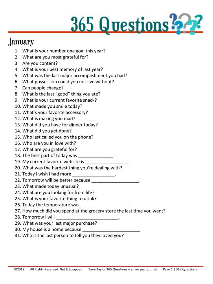 365 Questions January 1 12 Journal Writing Prompts Journal Questions 365 Questions
