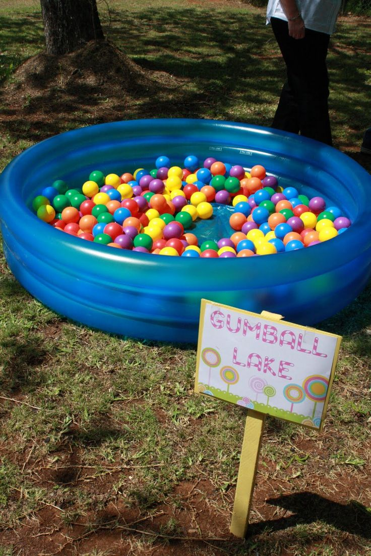 Candy Land Gumball lake - ball pit for the little ones