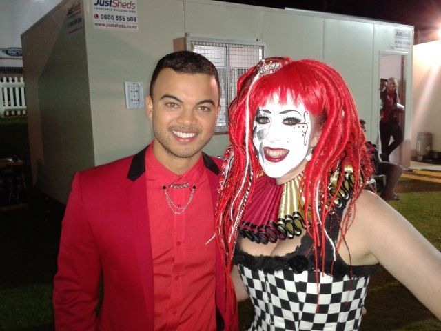 Guy Sebastian and Chess Countess at Coca Cola Christmas In The Park 2012.