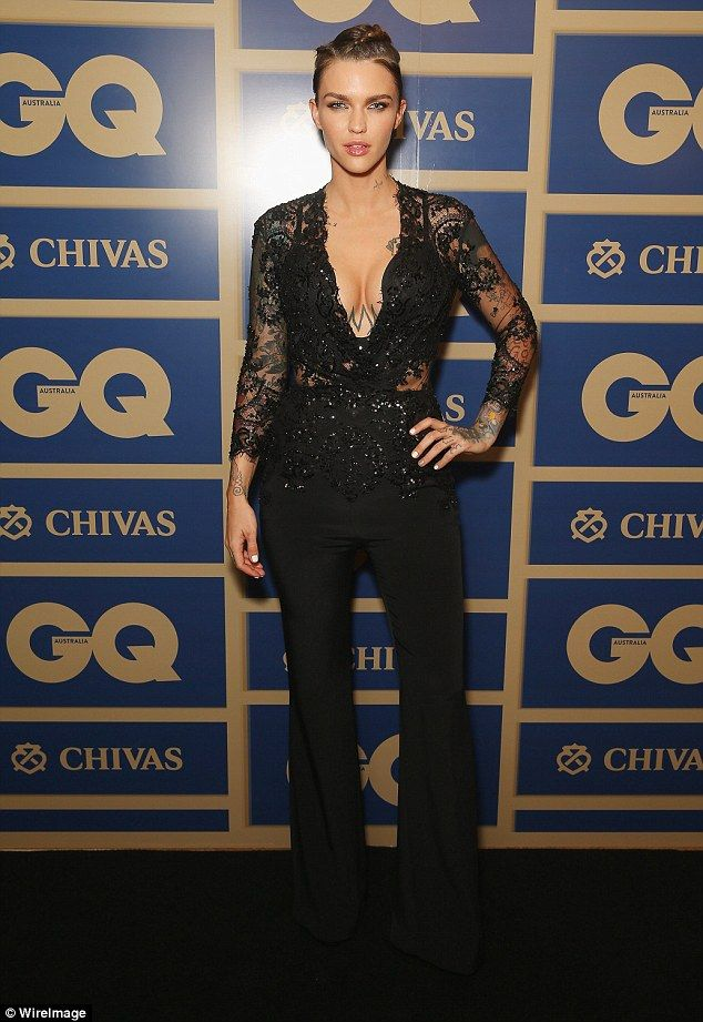 Smouldering: The Orange Is The New Black star recently stepped out at the GQ Australia Awards, in which she was awarded Woman Of The Year