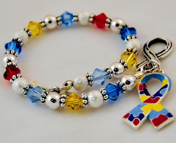pin awareness puzzle autistic piece bracelet jewelry speaks autism