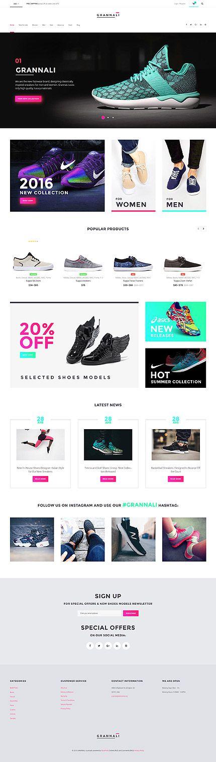 Sneakers & Footwear Online Store #WooCommerce #template. #themes #business #responsive #WooCommercethemes