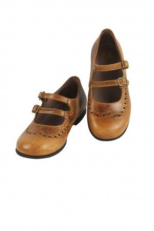 Cognac Double Strap Shoes by PePe
