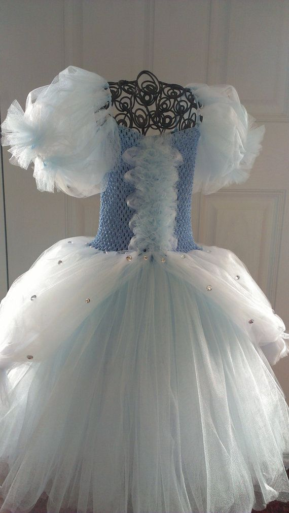 Cinderella Tutu Dress Detailed plus sleeves by AddiBabyBoutique