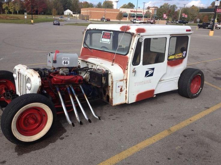 Postal Jeeps Rat Rod Postal Jeep | Rat Rods | Pinterest