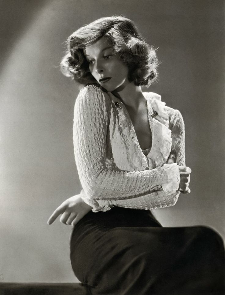 Katharine Hepburn- beautiful, sophisticated, yet strong personalitied and always in control of her career.