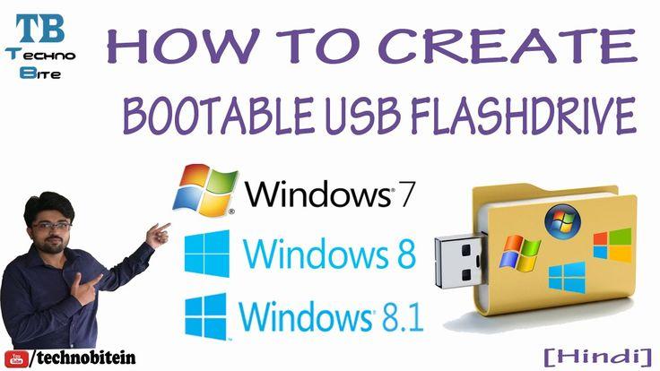 How To Make Bootable Usb Pendrive For Windows 7/8/8 1 [Hindi]