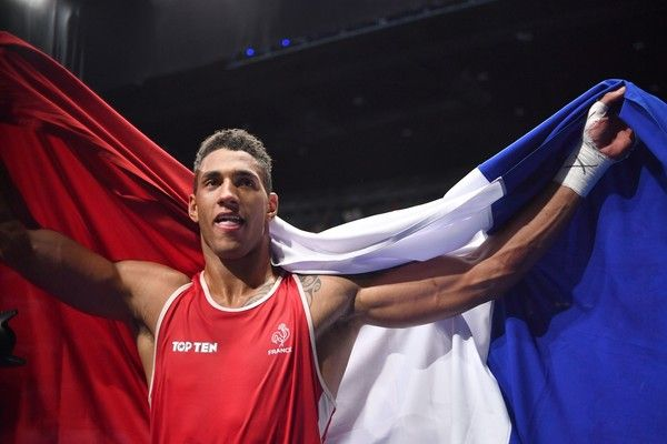 France's Tony Victor James Yoka reacts after winning against Great Britain's Joe Joyce during the Men's Super Heavy (+91kg) Final Bout at the Rio 2016 Olympic Games at the Riocentro - Pavilion 6 in Rio de Janeiro on August 21, 2016.  .France's Tony Victor James Yoka won the match. / AFP / Yuri CORTEZ
