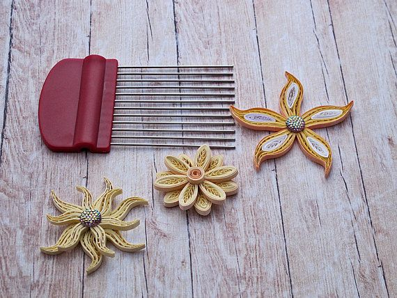 Quilling Earrings Designs Using Comb : Best 25+ Quilling comb ideas on Pinterest