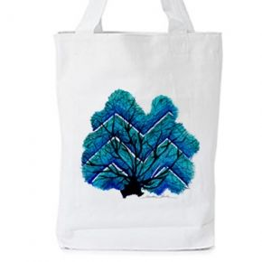 """from the NEW summer art print collection by Caroline Rovithi  Inspired by the work of oceanographer and explorer Jaques Yves Coustaeu who said that :  """"The sea, once it casts its spell, holds one in its net of wonder forever.""""  WHITE ORGANIC FASHION TOTE BAG  - Climate Neutral®  100% Organic Cotton Twill Weave 170 g / 5.1 oz.  ONE SIZE : Width 36 x Height 42 x Depth 8 cm  #storymood #totebags #beachbags"""