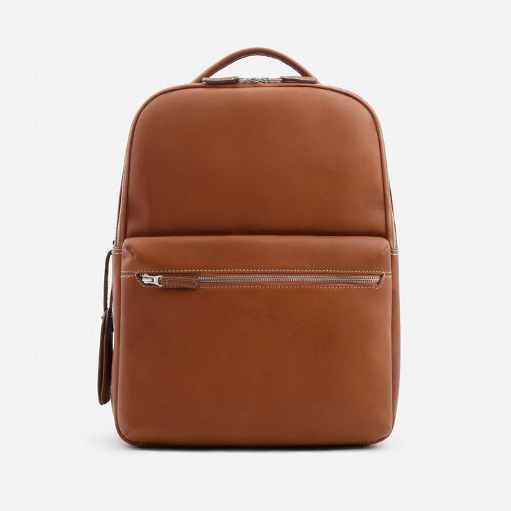Logan Backpack - Full grain Leather - Tan