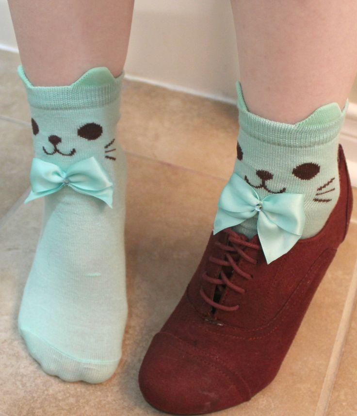 #kawaii #cute cat socks