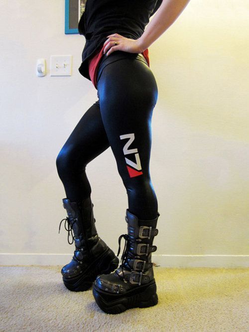 Mass Effect's N7 leggings. I need these... now! lol