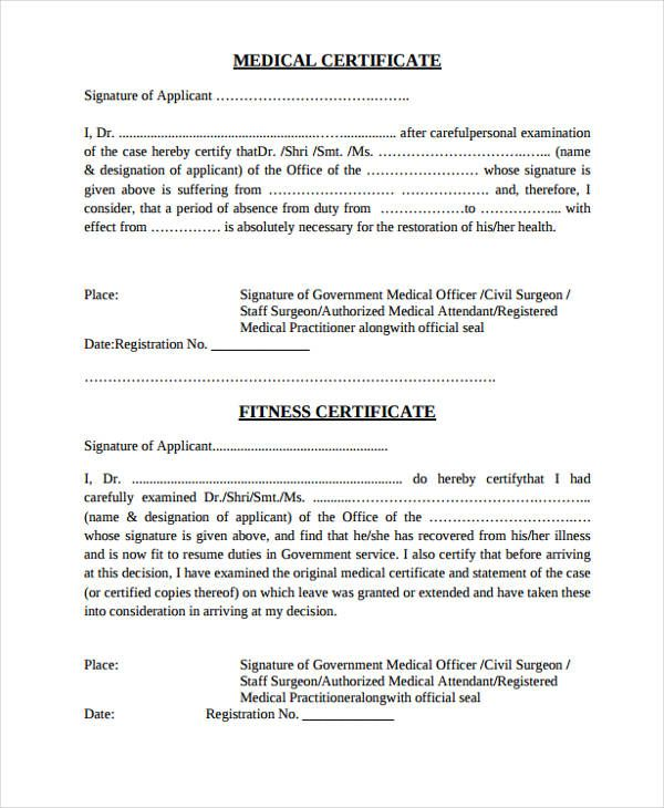Medical Certificate In 2020 Medical Examination Certificate Templates Medical