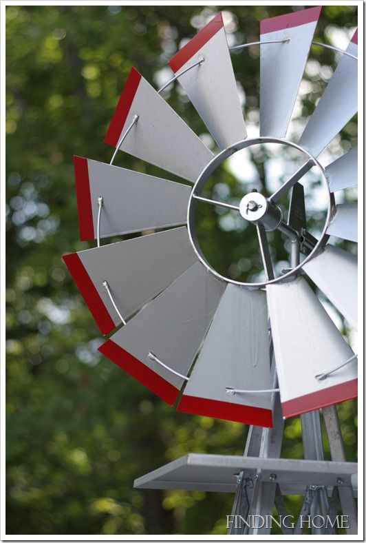 Add a windmill to your outdoor dcor with Finding Home