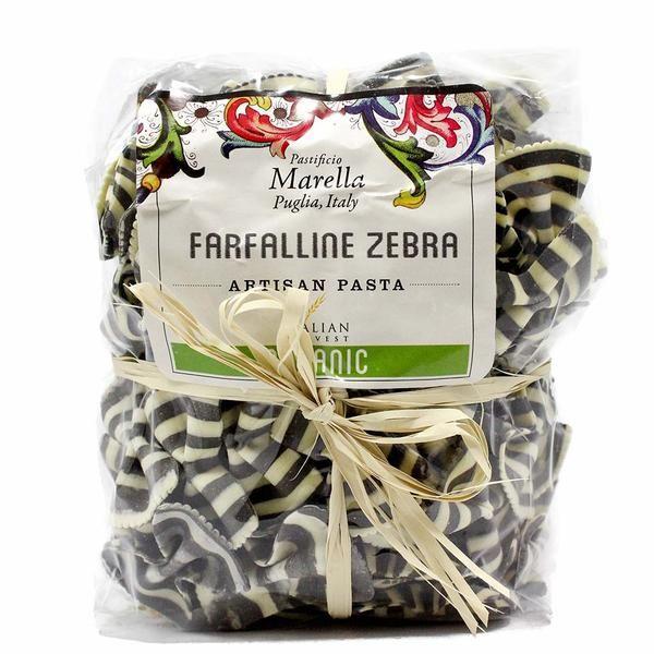 Organic Farfalline Squid Ink Bow Tie Pasta by Marella 8.8 oz
