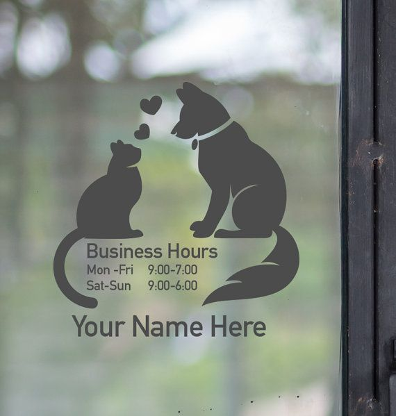 Best BUSINESS HOURS DECALS Images On Pinterest Business Hours - Window decals for business atlanta