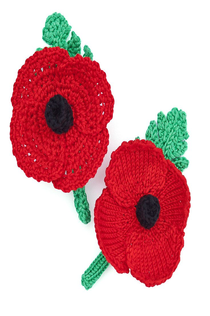 Pay tribute on Remembrance Day with your very own knitted poppies, which can easily be worn each year without getting crumpled.