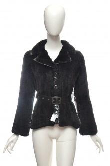 Úpletová kožešinová bunda sako králík norek kůže Pc 27t. 36 38  #bunda #kozich #kuze
