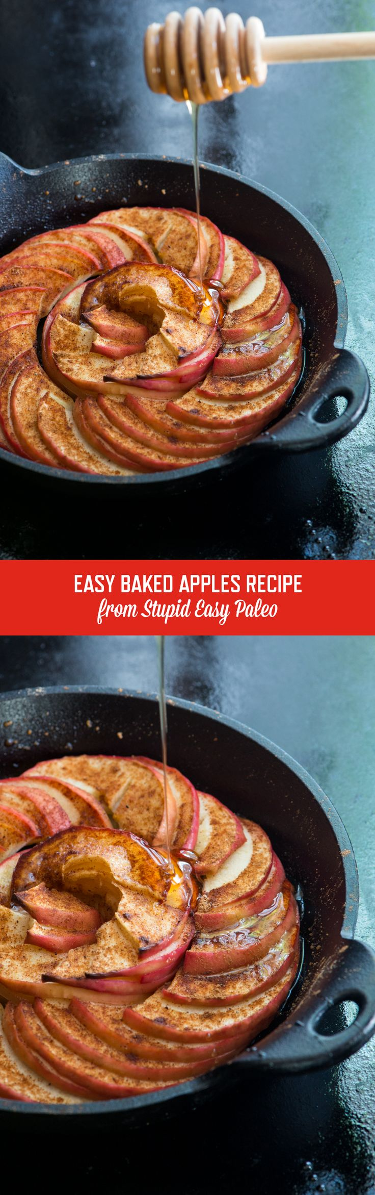 Easy Baked Apples Recipe is the perfect combination of simple and flavorful paleo fall ingredients...plus, there's no crust to fuss over! | StupidEasyPaleo.com