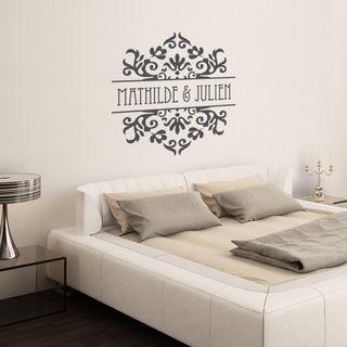 Sticker Baroque personnalisable Amour et Mariages - Décoration design