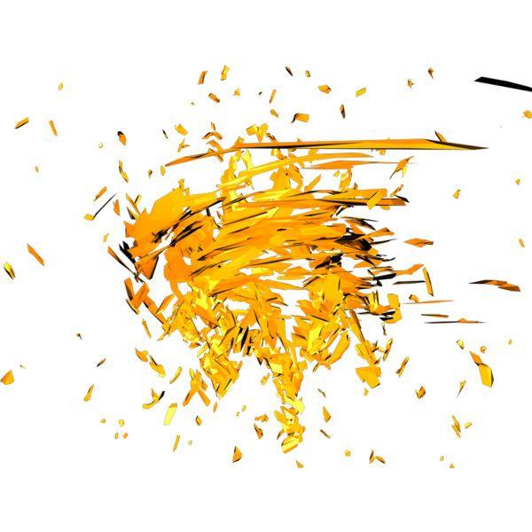 Render C4D Abstrait Particules Orange Jaune - 3D Abstrait - 3D - PNG image sans fond - Posté par Pullip - Telecharger le render found on Polyvore featuring polyvore