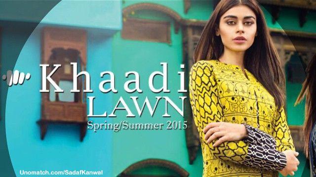 New Khaadi LAWN 2015 campaign #picofftheday #pakiModel #sadafkanwal #SadafK http://www.unomatch.com/SadafKanwal