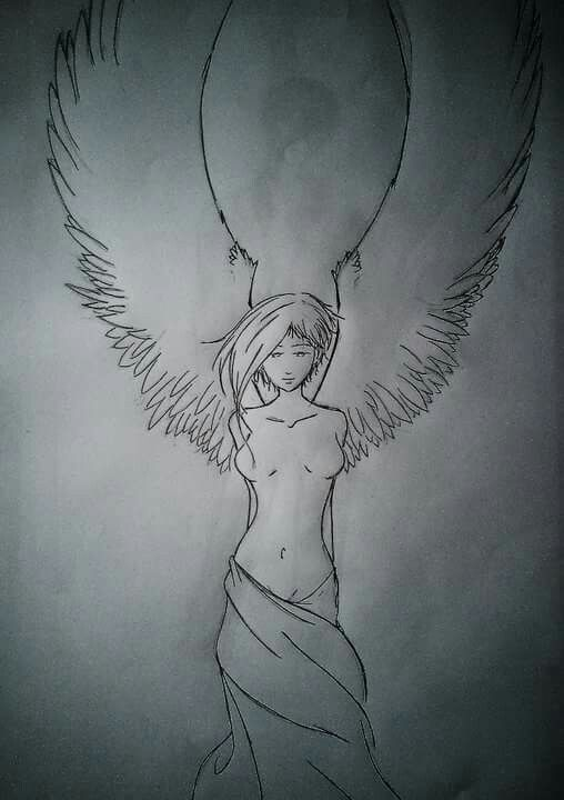 Angel in Manga style...